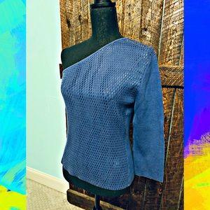 Stunning royal blue one shoulder top